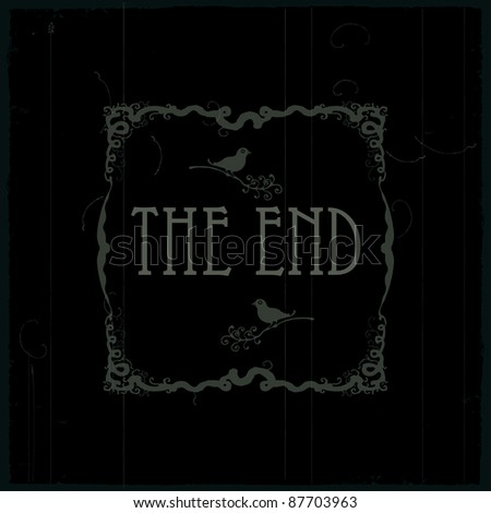 the end of this movie two - stock vector
