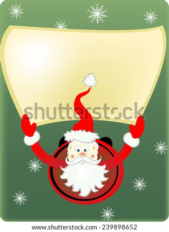 the falling Santa Claus and snowflakes - stock vector