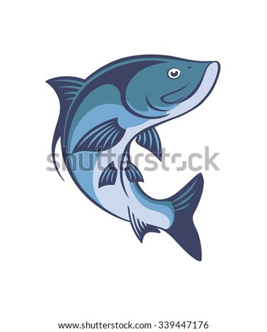 The figure shows a fish tarpon - stock vector
