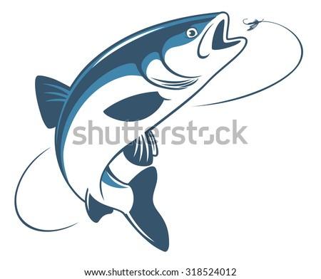 the figure shows the fish chub - stock vector