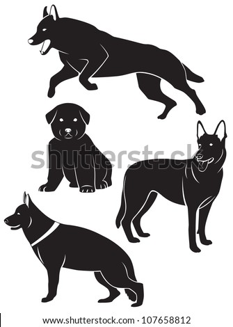 the figure shows the silhouette of a dog