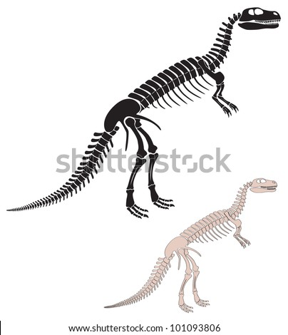 the figure shows the skeleton of a dinosaur