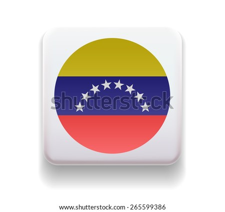 The flag is made in the form of a computer button for the web site. The national flag of the country. Illustration. Image. Icon. Vector. Flag of Venezuela - stock vector