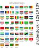 The flags of the individual African countries - stock photo