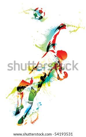 The football goalkeeper catches a ball. Vector illustration. - stock vector