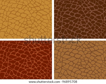 The four skin texture set - stock vector