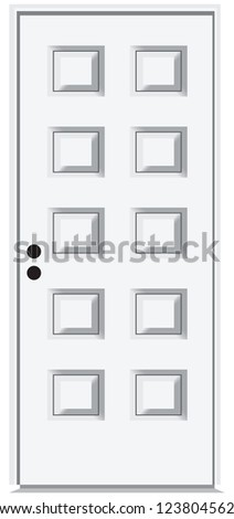 The front door of the ten segments. Vector illustration. - stock vector