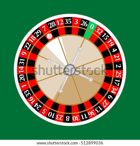 The game of casino, Roulette, vector, isolated