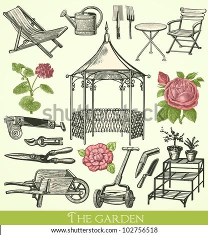 Garden Vintage Engraved Illustration Catalog French Stock Vector 102756518 Shutterstock