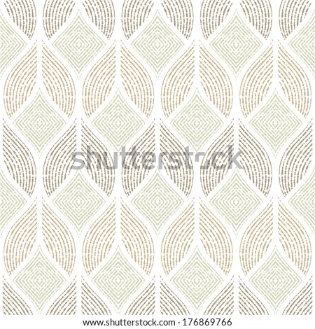 The geometric  abstract pattern. Seamless vector background. White, gray texture. - stock vector