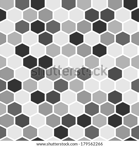 The geometric background made out of hexagons / The simple seamless hexagon background / Hexagons