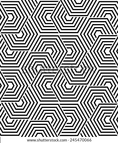 The geometric pattern by lines, stripes. Seamless vector background. Dark texture. - stock vector