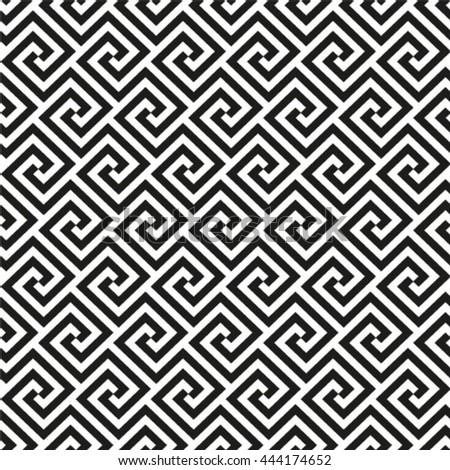The geometric pattern by rhombuses. Seamless vector background. Black and white texture - stock vector
