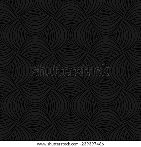 The geometric pattern. Seamless vector background. Black and gray texture. - stock vector