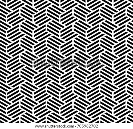 The geometric pattern with stripes, lines. Seamless vector background. Black and white texture.