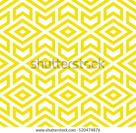 The geometric pattern with triangles. Seamless vector background. Yellow  and white texture. Graphic