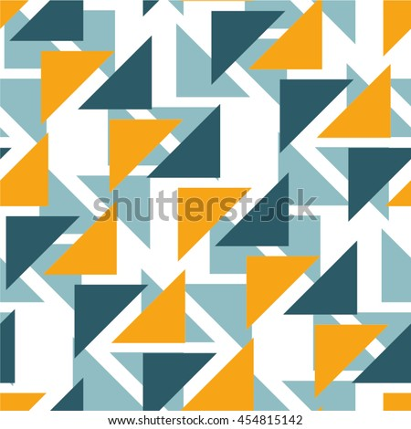 The geometrical pattern of triangles, mosaic, seamless vector background.