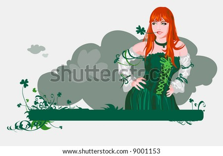 The girl with four-leafs clover