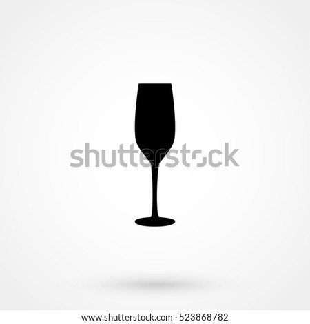 The glass of champagne icon isolated on background. Modern flat pictogram, business, marketing, internet . Trendy Simple vector symbol for web site design or button to mobile app. Logo illustration