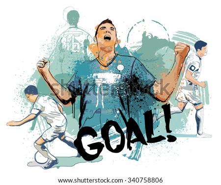 The Goal - stock vector
