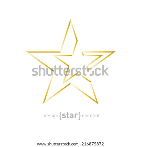 The Gold Abstract vector star on white background. Corporate logo template - stock vector