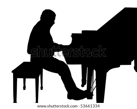 The Grand piano  The Musician for grand piano  The Silhouette  The    Playing Piano Silhouette