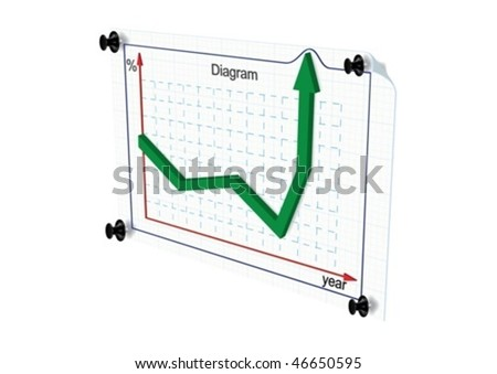 The graph shows the growth rates - stock vector