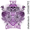 The great challenge - stock vector