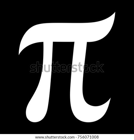 Greek Letter Pi Symbol Mathematical Constant Stock Vector 756071008