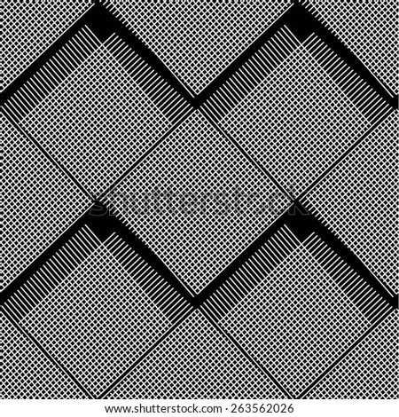 The grid pattern of lines and squares seamless vector background. - stock vector