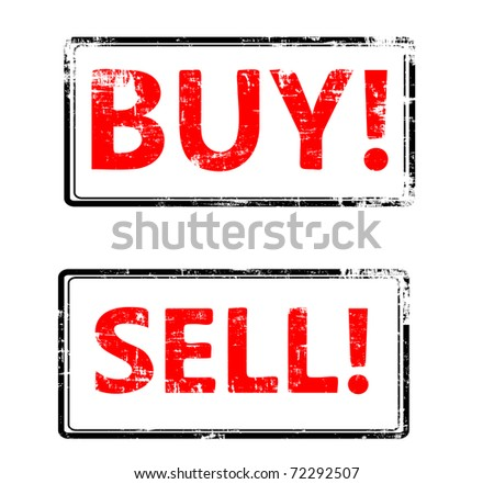 the grunge Vector buy end sell stamp - stock vector
