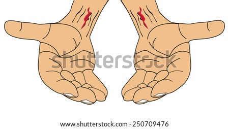 The hand of Jesus Christ-Vector illustration