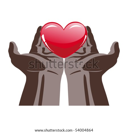 The heart in hand vector illustration - stock vector