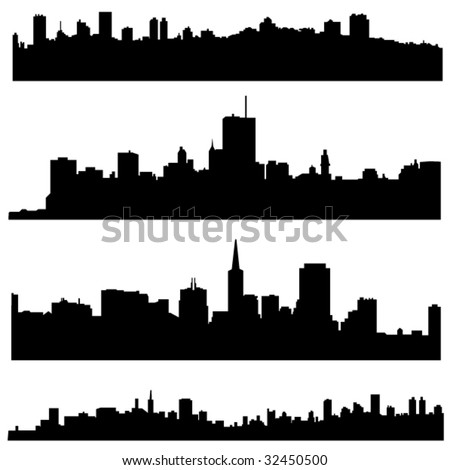 The high-rise buildings in American cities - stock vector