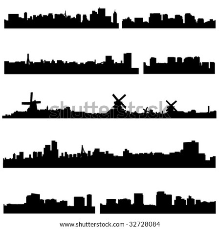 The high-rise buildings in Netherlands Well-known cities - stock vector