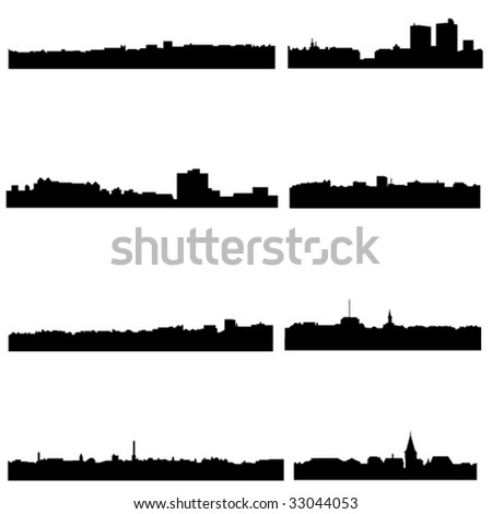 The high-rise buildings in Norwegian Well-known cities - stock vector