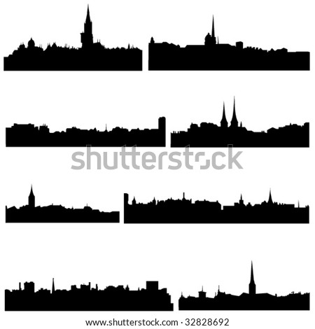 The high-rise buildings in Switzerland Well-known cities - stock vector