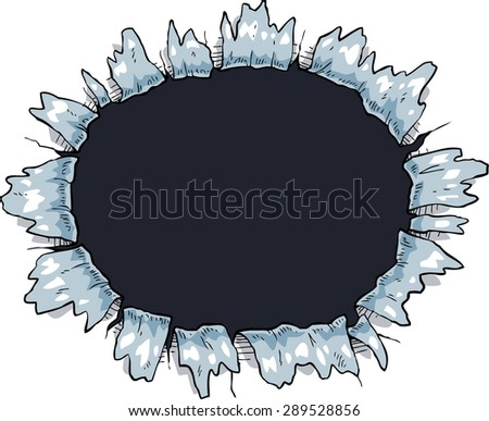 The hole on a white background vector illustration - stock vector
