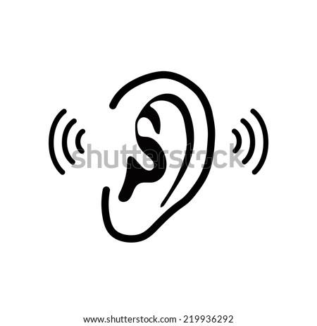 The human ear - vector illustration - stock vector