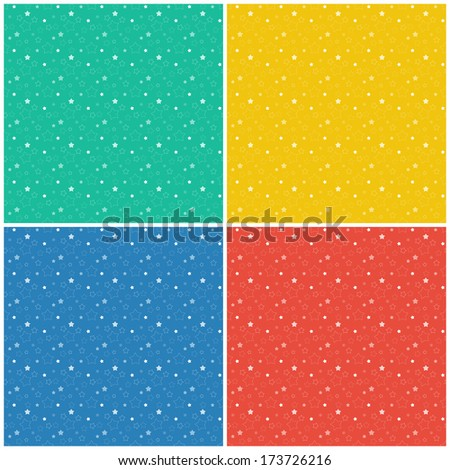the illustration of background full of stars  / the stellar background / The seamless star background  - stock vector