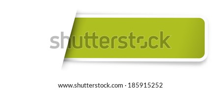 the illustration of glossy rectangle template /  the blank green label / the tag - stock vector