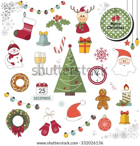 The illustration shows the template Merry Christmas