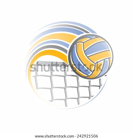 The image of a volleyball ball - stock vector