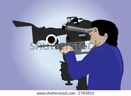 The image of the cameraman carrying out the work