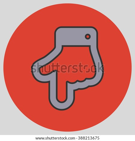 Index Finger Pointing Down Hand Gestures Stock Vector Hd Royalty