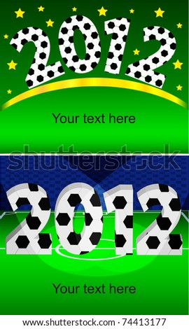 The invitation to the championship on football of Euro 2012 - stock vector