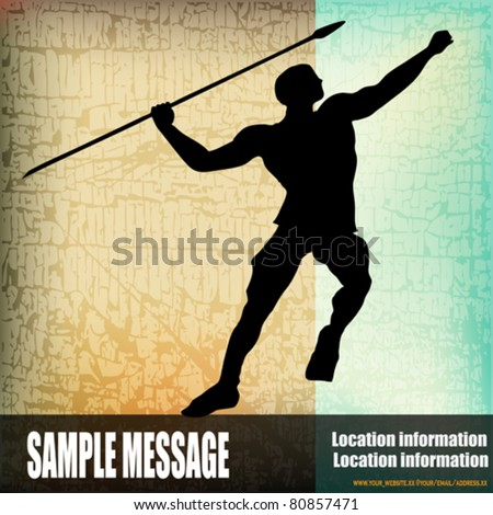 The Javelin, Vector Athletics Background - stock vector