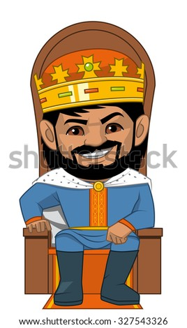 The  King in his throne - stock vector