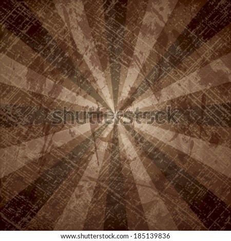 The light and dark rays on grunge background with texture of paper. - stock vector