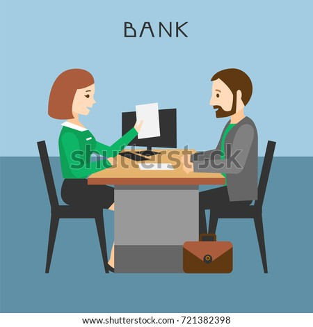 loan processing bank manager prepares contract stock